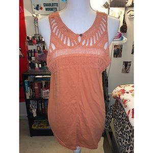 Orange Net Tank Top